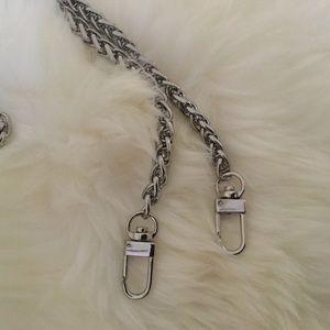 "Handbags - 55"" Crossbody Chain Strap Silver"